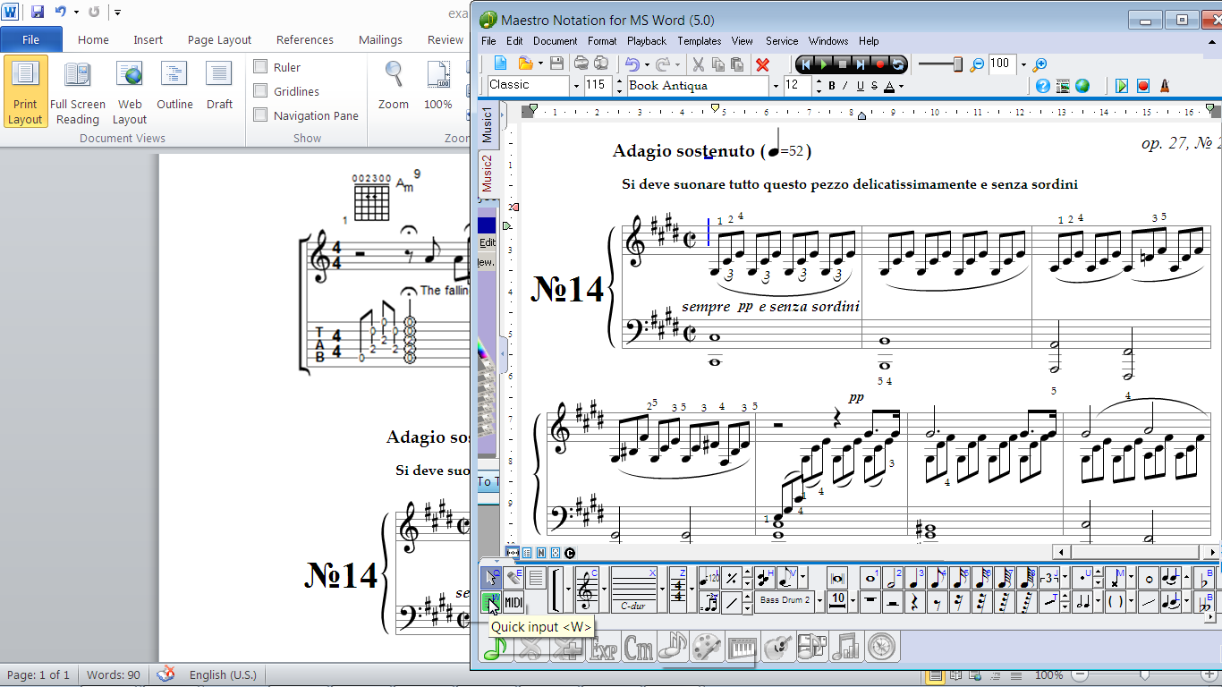 Click to view MagicScore Notation For MS Word 8.189 screenshot