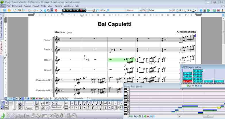 Music notation and composition software - MagicScore Maestro