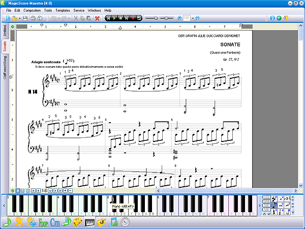 Piano piano chords list : Musical Editor ===>>> Magic Score -:-:- FUTURE STYLE ...