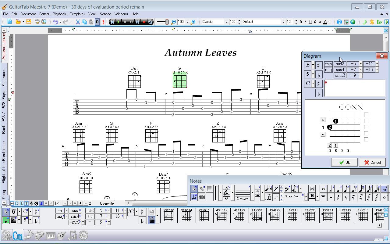 guitar software, guitar tab software, tab editor, guitar tab notation, guitar music notation, guitar music notation software