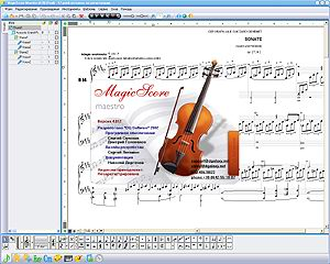 MagicScore is a magnificent musical editor. Advantages of MagicScore: The convenient interface for a set of partitas, some variants of data input by means of the virtual keyboard, external MIDI devices, and as big set of musical symbols.