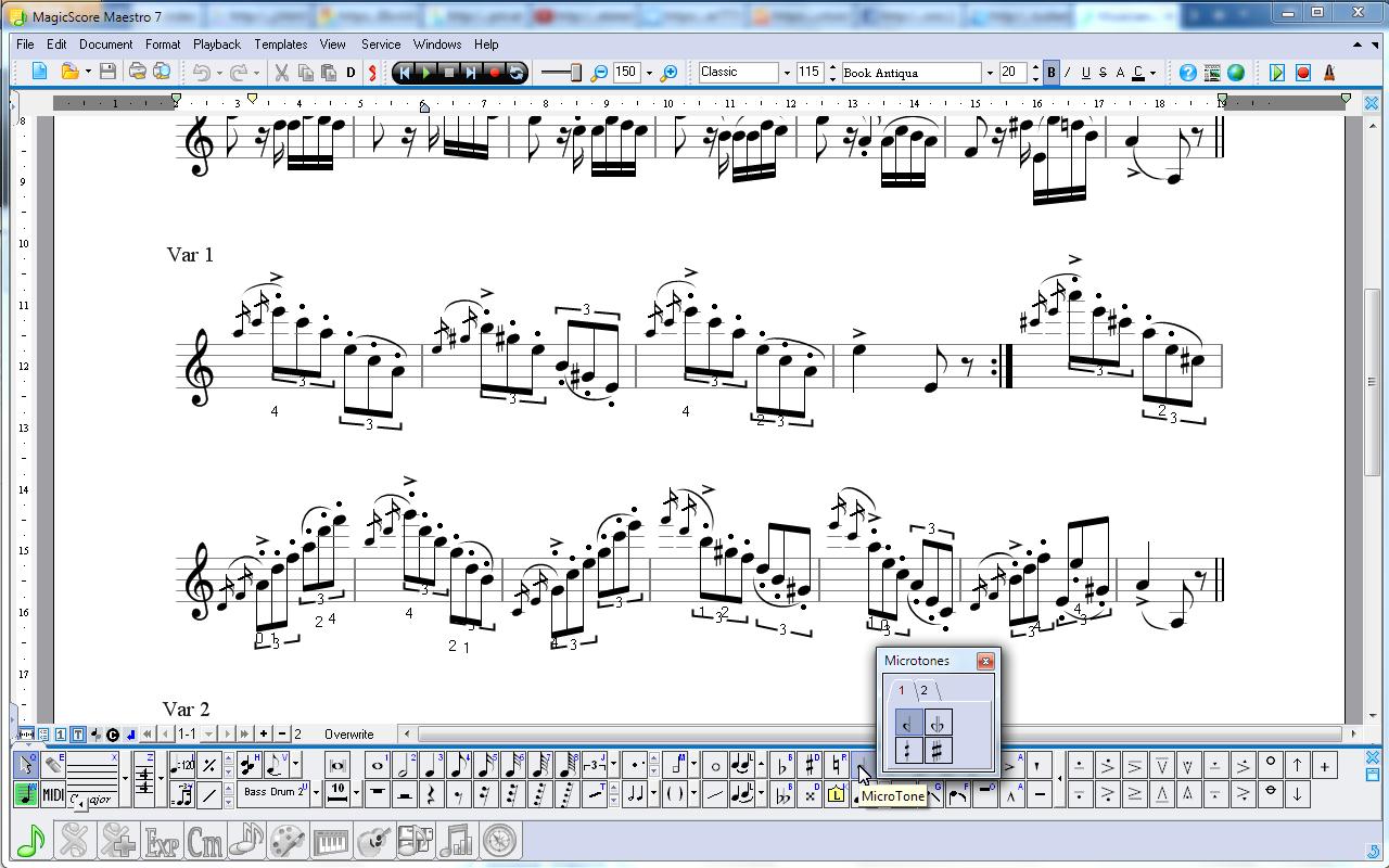 Musician Microtonal Notation Editor