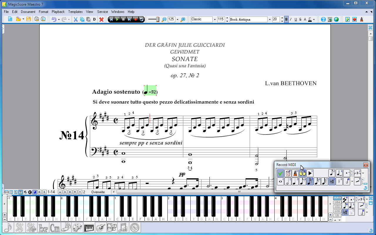 Music Notation Recording From MIDI Device
