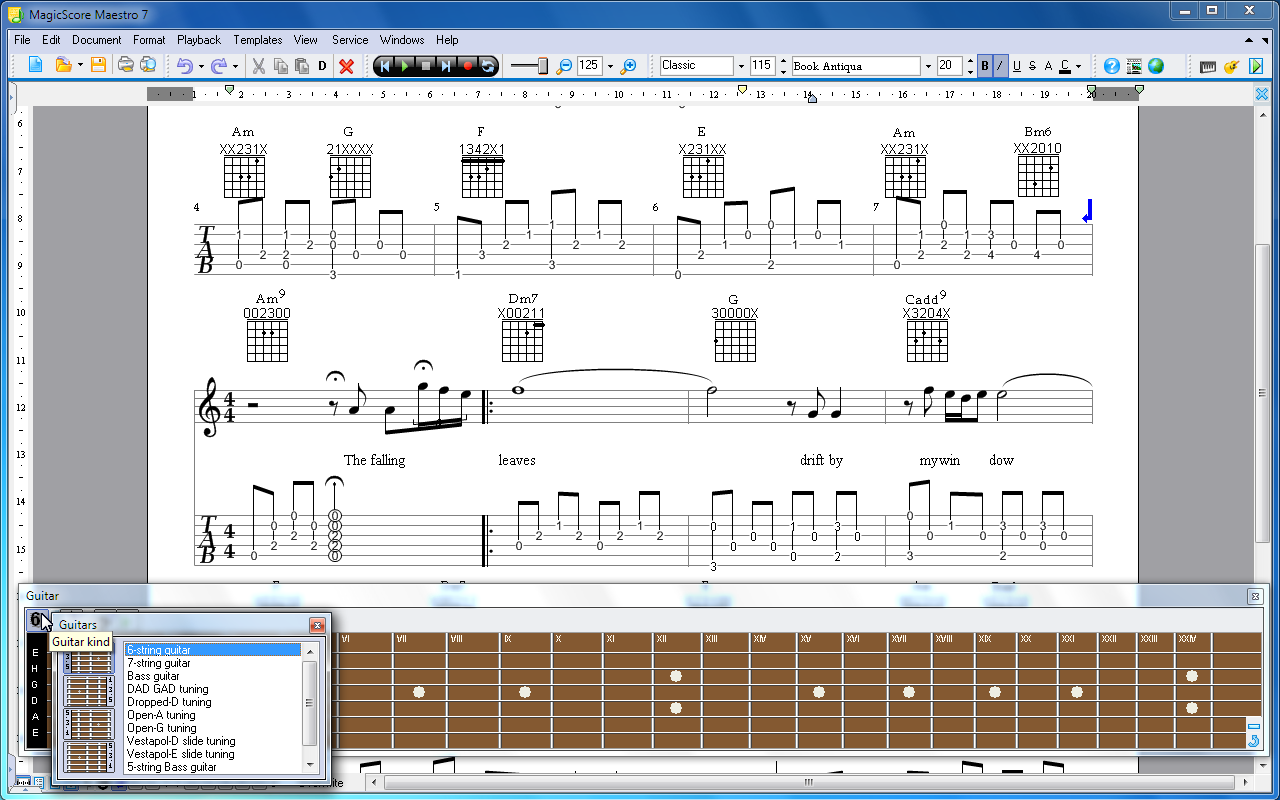Guitar Notation Software Virtual Guitar Deck
