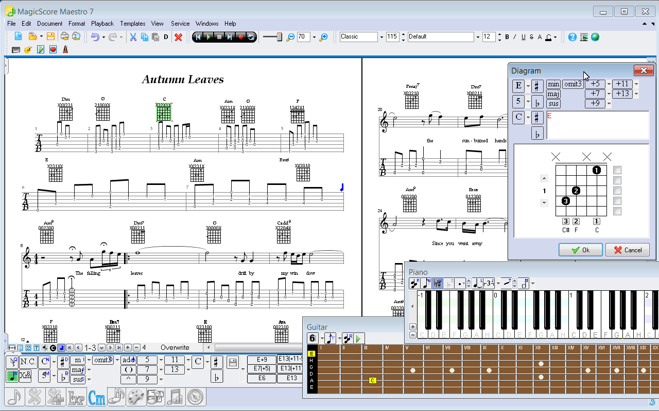 Sibelius 6 musical notation and composition software