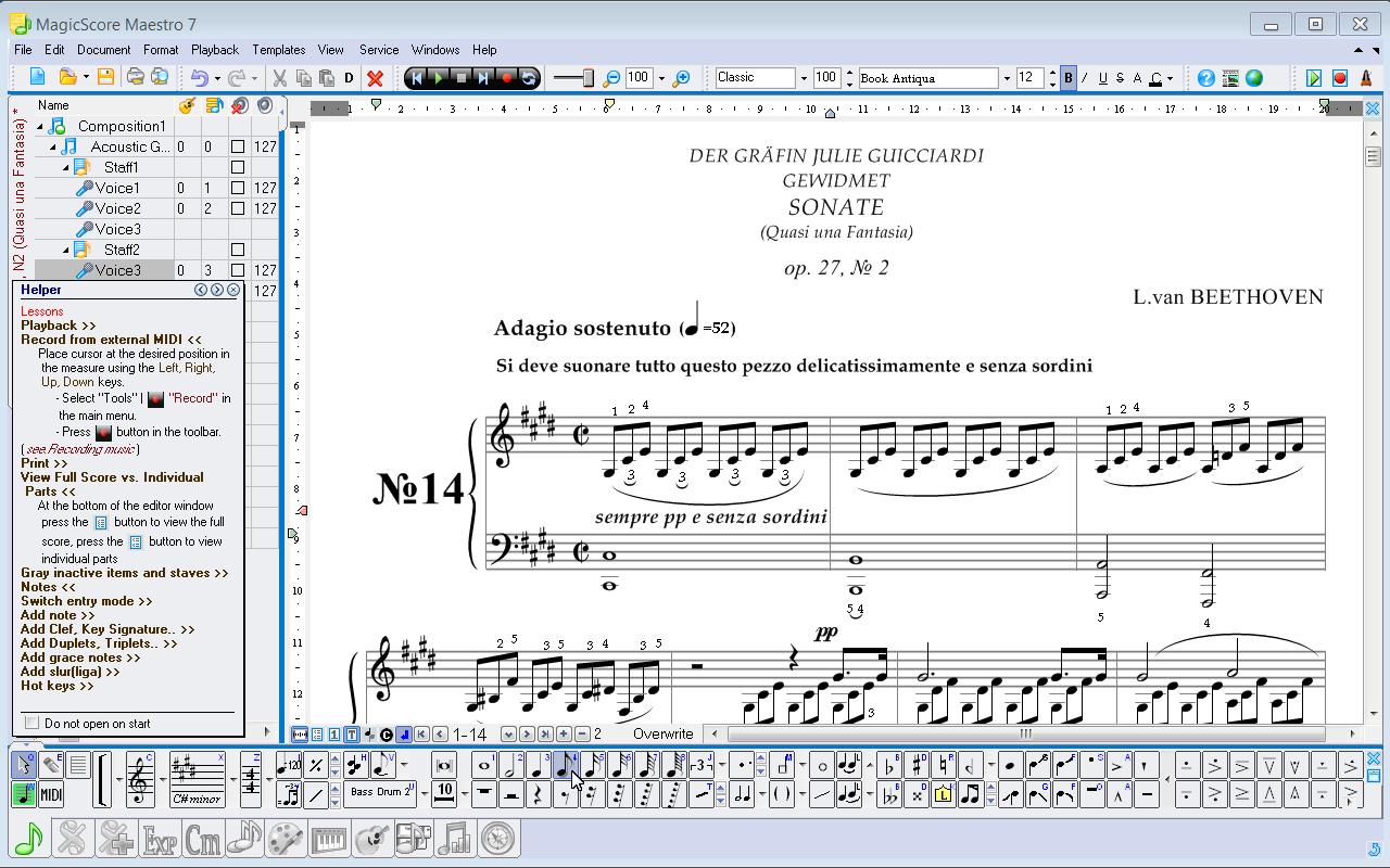 Music notation software magicscore maestro music notation software biocorpaavc Image collections