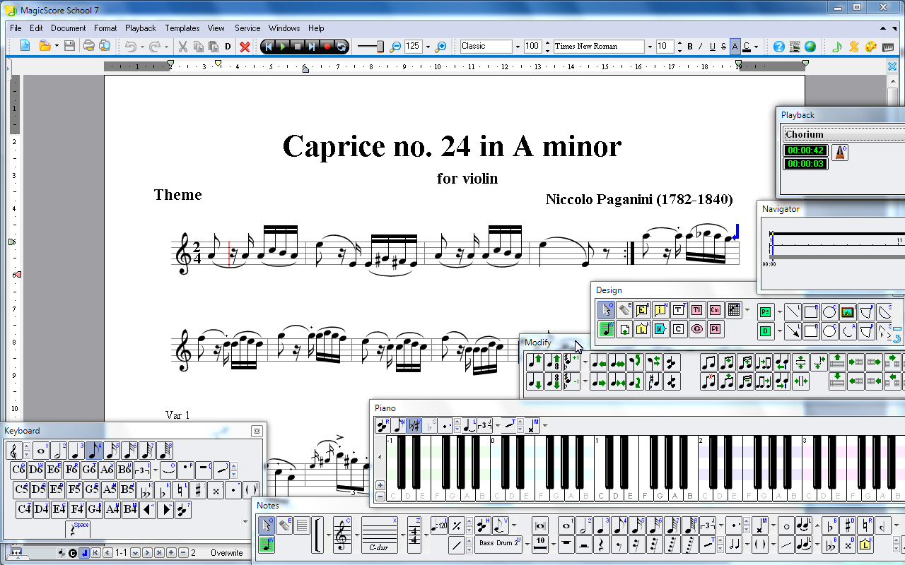 Create play and print beautiful sheet music