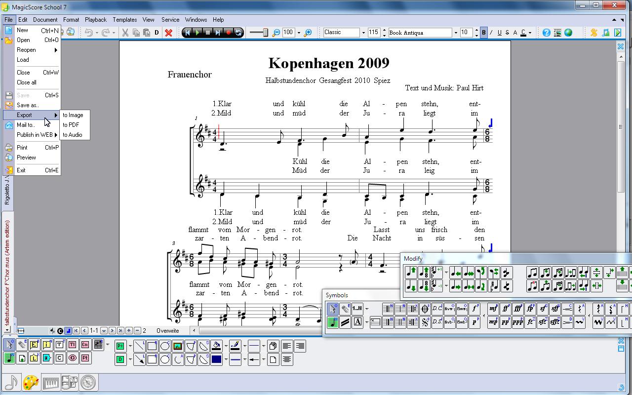 Music notation and music writing software — magicscore school 7