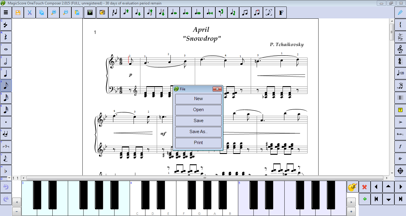 MagicScore OneTouch Composer screenshot