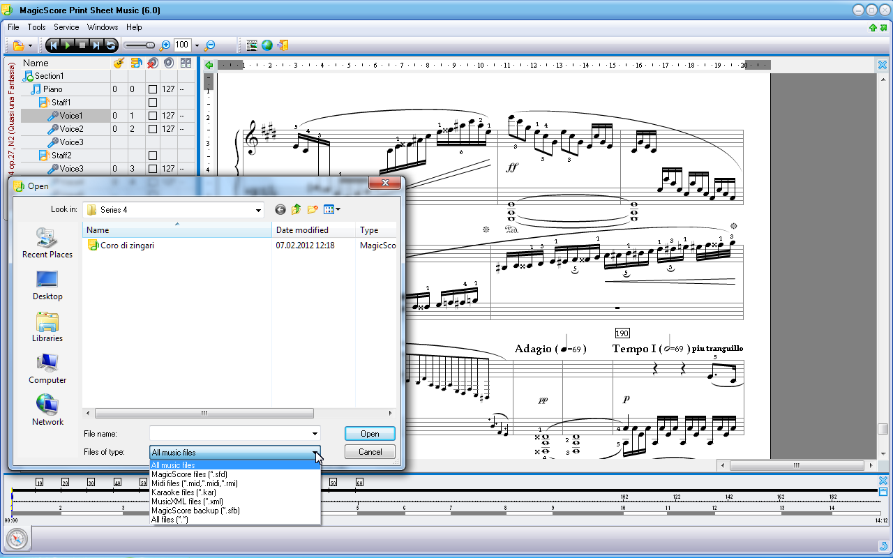 NEW MagicScore Print Sheet Music — the free music score printing software ...