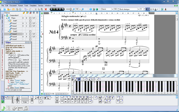 sheet music software