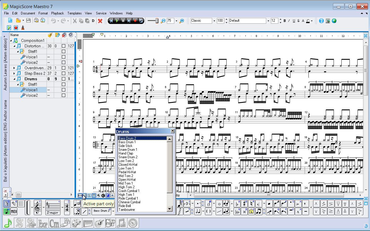 Magicscore maestro music composition and music notation software biocorpaavc Gallery