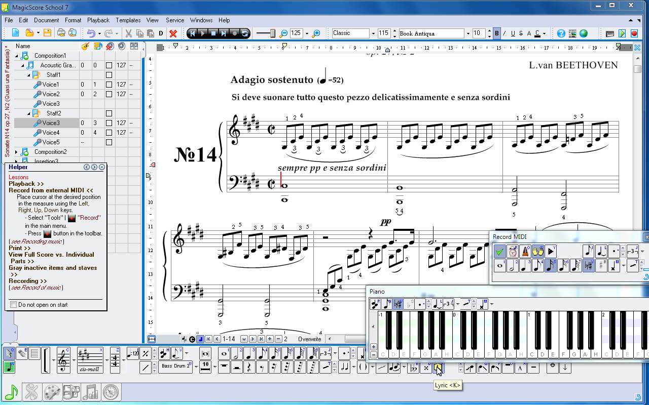 Music Notation and Music Writing Software   MagicScore School 7