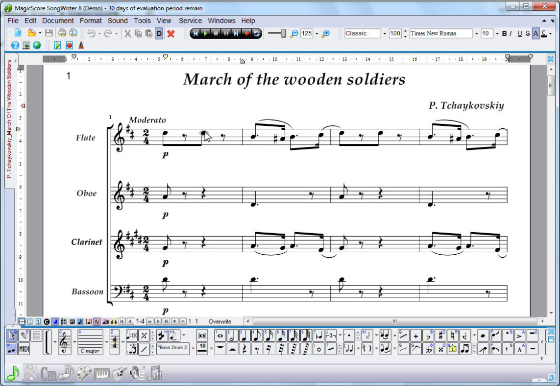 Create and format sheet music 1,5 times faster