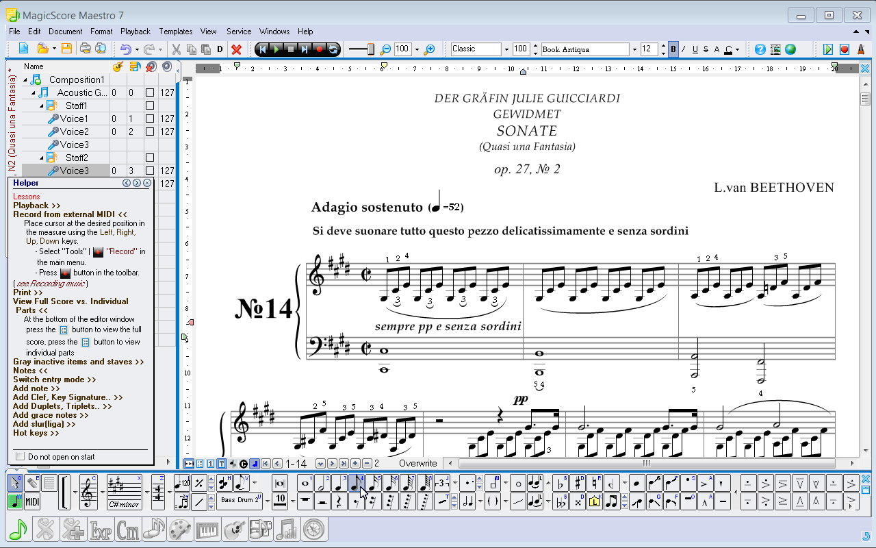 Magicscore maestro music composition and music notation software magicscore maestro the music notation software main toolbar panel notes easy buycottarizona