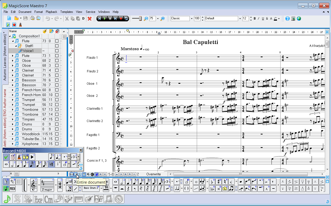 MagicScore Maestro — Music Composition and Music Notation