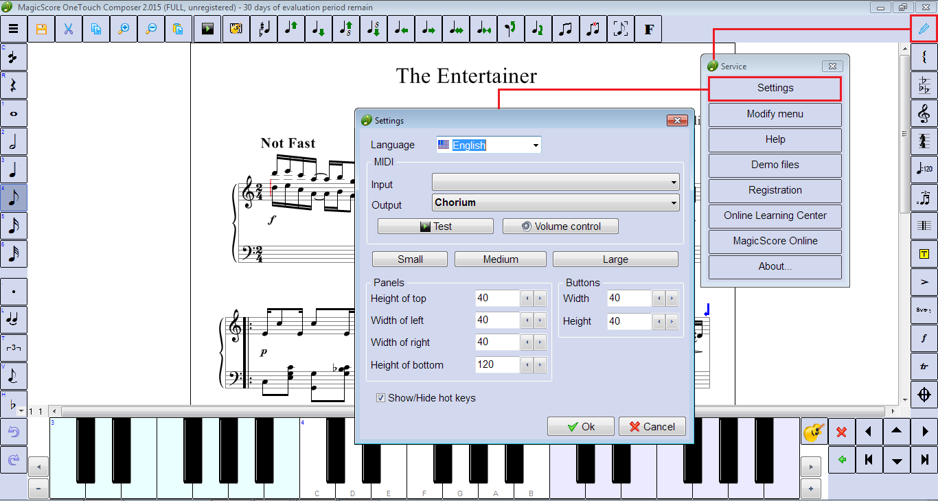 OneTouch Composer – touch the music