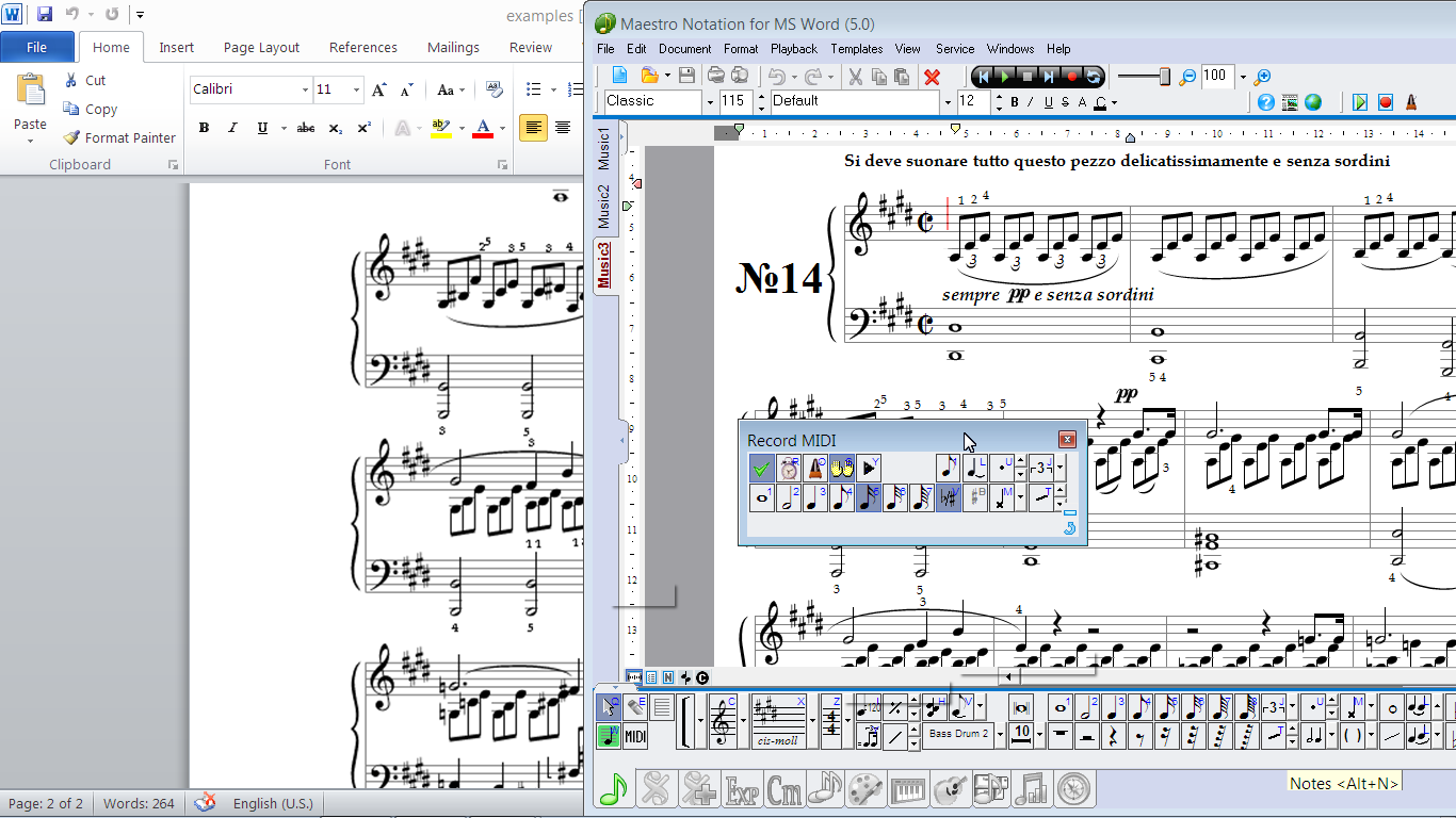 MagicScore Notation for MS Word